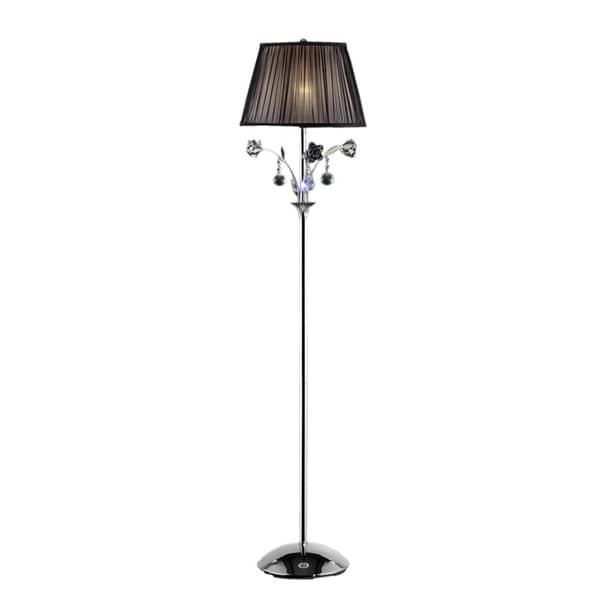 3 light crystal rose floor lamp free shipping today. Black Bedroom Furniture Sets. Home Design Ideas
