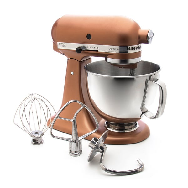 Shop Kitchenaid Rrk150ce Copper Pearl 5 Quart Tilt Head Stand Mixer