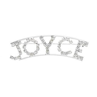 Detti Originals Silver 'JOYCE' Crystal Name Pin