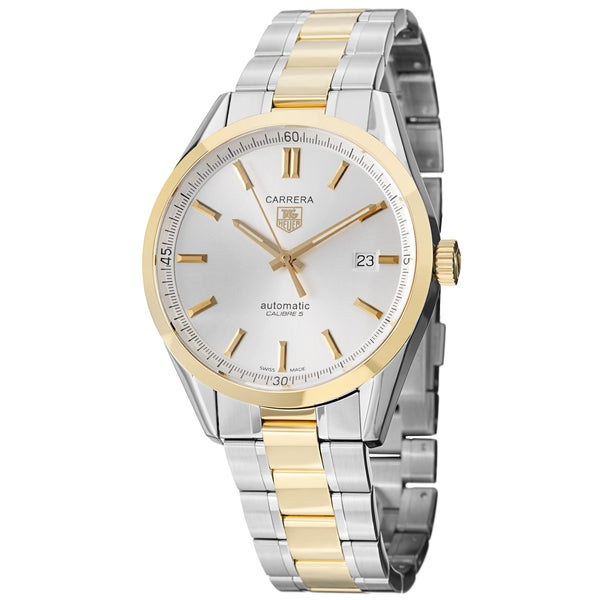 7e73008d4a7b Shop Tag Heuer Men s WV215D.BD0788  Carrera  18kt Yellow Gold ...