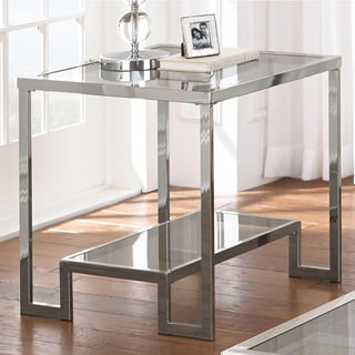 Greyson Living Cordele Chrome and Glass End Table
