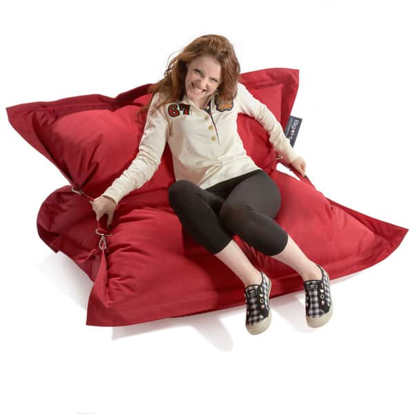 Surprising Shop Strapping Big Hug Eco Friendly Red Bean Bag Chair Cjindustries Chair Design For Home Cjindustriesco