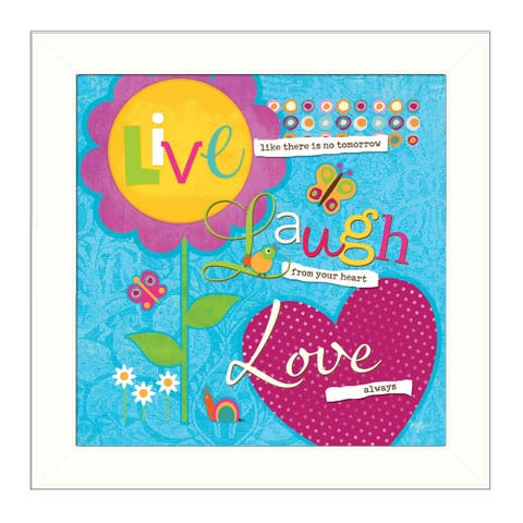 """Love Always"" By Mollie B., Printed Wall Art, Ready To Hang Framed Poster, White Frame"