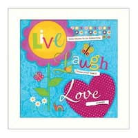 """""""Love Always"""" By Mollie B., Printed Wall Art, Ready To Hang Framed Poster, White Frame"""