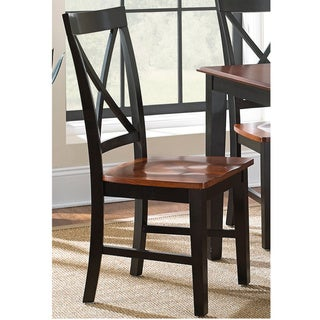 Copper Grove Lezhe Solid Wood Dining Chair (Set of 2) - 40 inches high x 18 inches wide x 22 inches deep