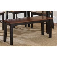 Laurel Creek Hayes Dining Bench - Black and Oak