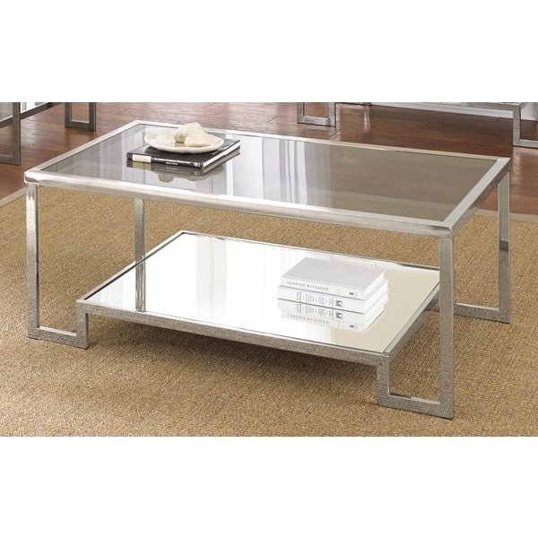 Cordele Chrome And Glass Coffee Table By Greyson Living Free Shipping Today