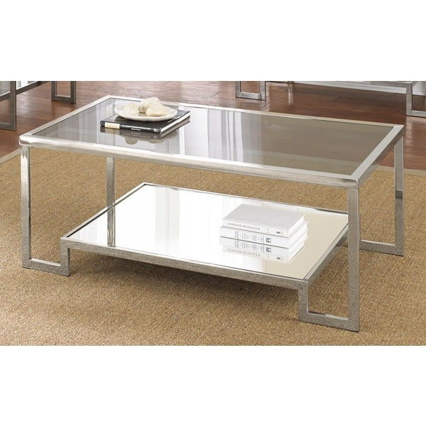 Cordele Chrome and Glass Coffee Table by Greyson Living - Cordele Chrome And Glass Coffee Table By Greyson Living - Free