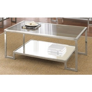 Greyson Living Cordele Chrome and Glass Coffee Table