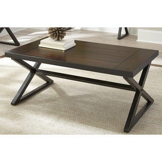 Greyson Living Oldham Trestle Style Coffee Table