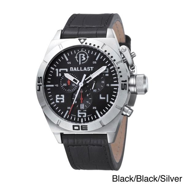 Ballast Men's 'Amphion' Chronograph Leather Strap Watch