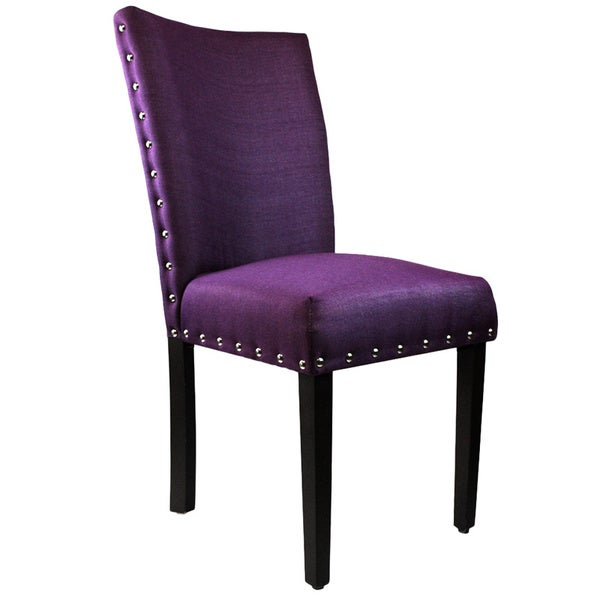 Arbonni modern parson purple upholstery chairs set of 2 16062984