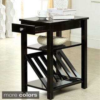 Furniture Of America Corin Accent Table With Storage Drawer And Magazine Rack
