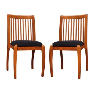 Sienna Cherry Black Vertical Slat Dining Chairs Set Of 2 Free Shipping T