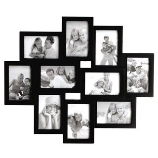 Melannco Black 10 Opening Wall Frame (Six-4X6 four-6X4)