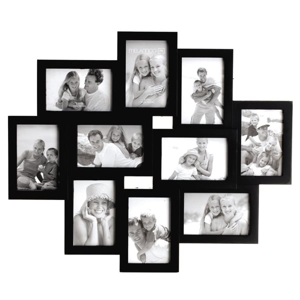 Shop Melannco Black 10 Opening Wall Frame (Six-4X6 four-6X4) - Free ...