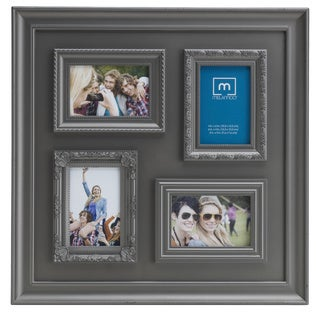 Melancco 20-inch 4-opening Pewter Collage Frame