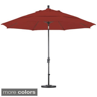 Pacifica 11 Foot Crank And Push Button Tilt Umbrella With