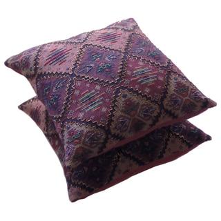 Celebration Beaded Jacquard Tapestry Decorative Pillow (Set of 2)