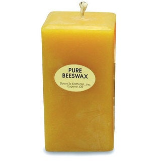 4-inch Rectangular Beeswax Candle