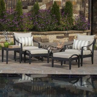 rst brands astoria 5piece club chair and ottoman set - Rst Brands