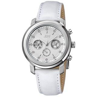 JBW Women's 'Nyla' White Leather Strap Diamond Watch