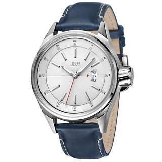 JBW Men's 'Rook' Blue Leather Strap Diamond Watch