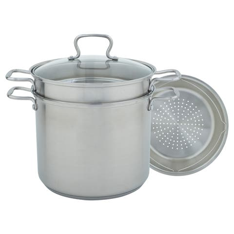 Stainless Steel 4-piece Multi-cooker