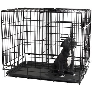 Oxgord Double Door Black Metal Pet Crate (5 options available)