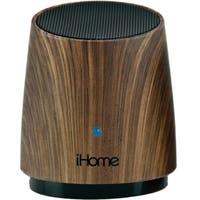 iHome iHM89 Speaker System - Battery Rechargeable - Dark Wood