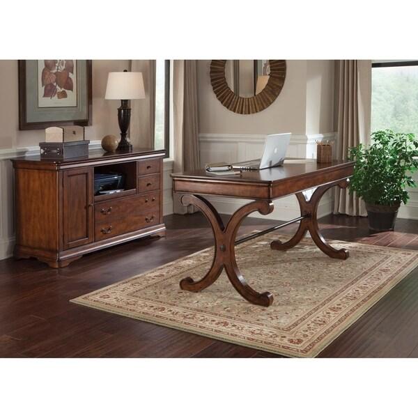 Brookview Rustic Cherry 2-piece Desk