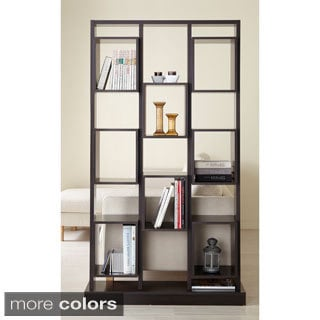 Furniture of America Caudaline Tower Cut-Out Bookcase
