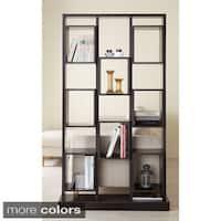Furniture of America Caudaline Tower Cut-Out Bookcase