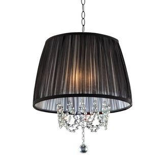 Eclipse 17-inch 3-light Chrome/ Crystal Ceiling Lamp