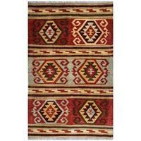 Handmade Herat Oriental Afghan Wool Kilim  - 3' x 4'9 (Afghanistan)