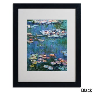 Claude Monet 'Waterlilies Classic' Framed Matted Art