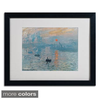 Claude Monet 'Impression Sunrise' Framed Matted Art