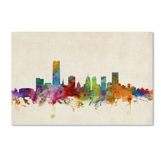 Michael Tompsett 'Oklahoma City Skyline' Canvas Art