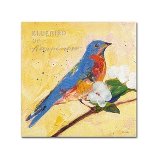 Sheila Golden 'Bluebird' Canvas Art