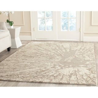 Safavieh Handmade Bella Modern Abstract Winter Taupe Wool Rug (8' x 10')