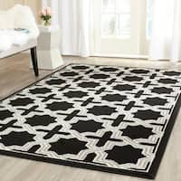 Safavieh Amherst Indoor/ Outdoor Anthracite/ Grey Rug - 8' x 10'