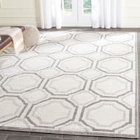 Safavieh Amherst Indoor/ Outdoor Ivory/ Light Grey Rug - 8' x 10'