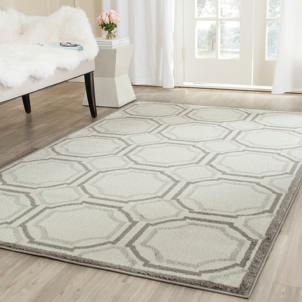8x10 Indoor Outdoor Area Rugs: Safavieh Amherst Indoor/ Outdoor Ivory/ Light Grey Rug