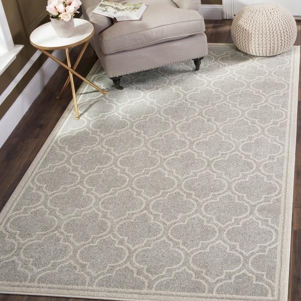 safavieh amherst indoor/ outdoor light grey/ ivory rug (8' x 10
