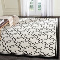 Safavieh Amherst Indoor/ Outdoor Ivory/ Anthracite Rug - 8' x 10'