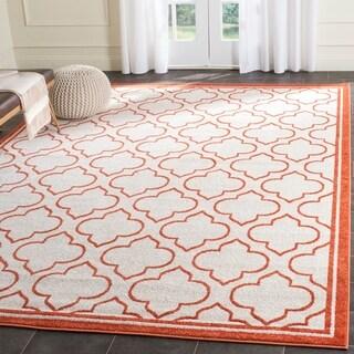 Safavieh Amherst Indoor/ Outdoor Ivory/ Orange Rug (8' x 10')