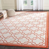 Safavieh Amherst Indoor/ Outdoor Ivory/ Orange Rug - 8' x 10'