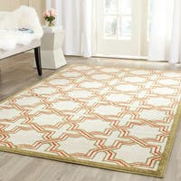 Safavieh Amherst Indoor/ Outdoor Ivory/ Light Green Rug - 8' x 10'