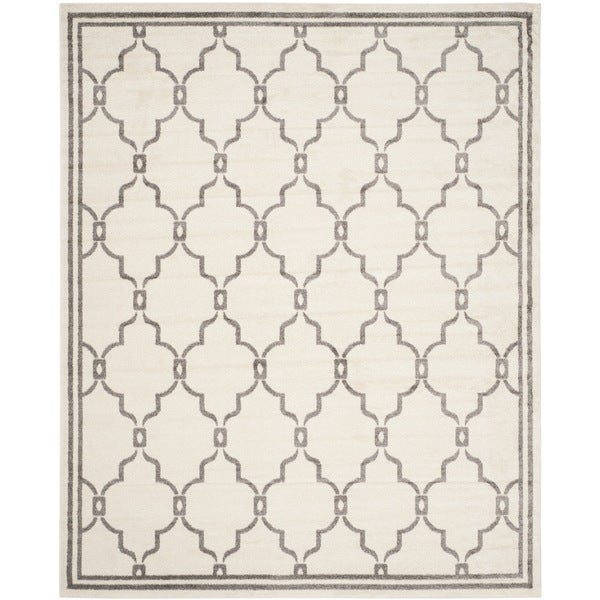 Safavieh Amherst Indoor/ Outdoor Ivory/ Grey Rug - 8' x 10'