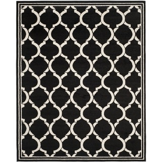 Safavieh Amherst Indoor/ Outdoor Anthracite/ Ivory Rug (8' x 10')
